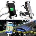 Nova Motocicleta Da Bicicleta Da Bicicleta Suporte de Montagem Do Carro Do Telefone Titulares Adaptador de Carregador USB Para O Telefone Móvel GPS MP3 Carregador