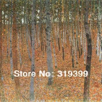 Obraz olejny reprodukcji na płótnie pościel, las bukowy I autorstwa gustava klimta, bezpłatny szybka wysyłka, ręcznie robione, muzeum jakości