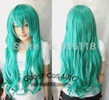 Hot vender new-NEW Hatsune miku Cos Verde Peruca Cosplay 80 cm