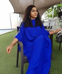 Image 4 - Afrikanische Kleider Für Frauen Pailletten Afrika Kleidung Muslimischen Lange Kleid Hohe Qualität Länge Mode Afrikanischen Kleid Für Dame