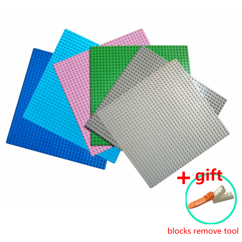32*32 Dots Base Plate DIY building blocks Compatible with Legoe Baseplates Small Bricks Major Brand Blocks for legoes plate new big size 40 40cm blocks diy baseplate 50 50 dots diy small bricks building blocks base plate green grey blue