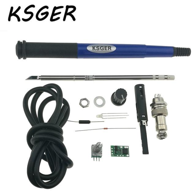 Ksger T12 Температура 616 паяльная станция контроллер с T12-K 9501 пайки ручка 5 силикона сердечника провода GX15-5PIN Plug