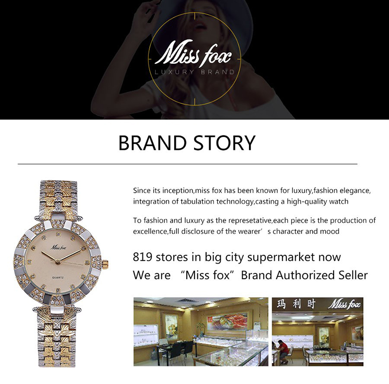 Miss Fox Women's Watch 2019 Top Brand Luxury Bling Ladies Golden Leopard Watches Crystal Diamond Watch Female Relogio Feminino (1)