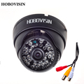 "HOBOVISIN new audio Dome camera 800TVL 1/4"" CMOS with IR-CUT 3.6mm lens 48 IR  with audio  cctv security  indoor camera"