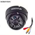 """Hobovisin nuevo audio cámara domo 800tvl 1/4 """"CMOS con IR-CUT 3.6mm lente 48 IR con audio seguridad cctv cámara de interior"""