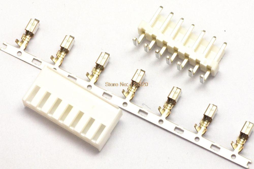 US $15 68 6% OFF|50sets/lot VH Connector 7Pin,Pitch:3 96MM, Side Entry Type  Locking Header + Terminal + Housing, VH3 96 7P-in Connectors from Lights &