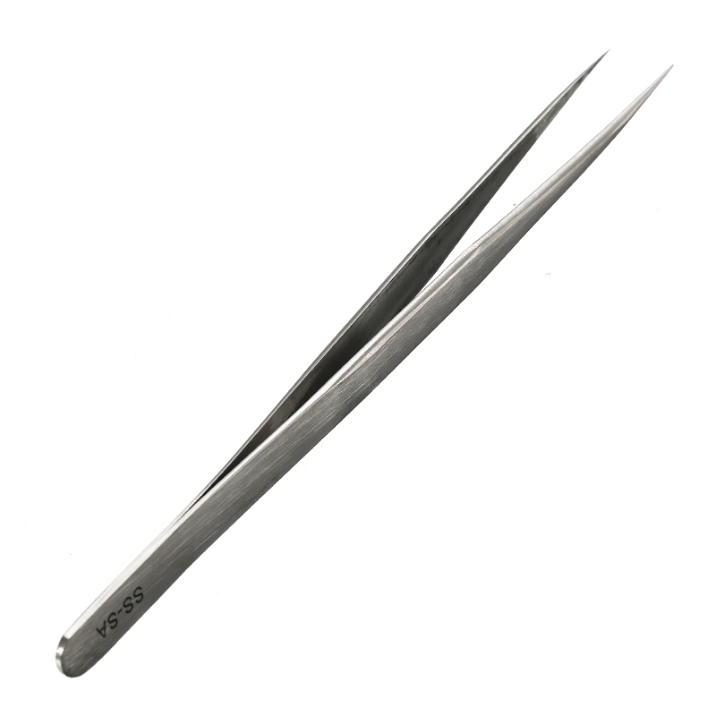 1PC 14mm High Precision Stainless Steel Pointed Tweezers SS-SA Clamps Lengthened Medical Nest Maintenance
