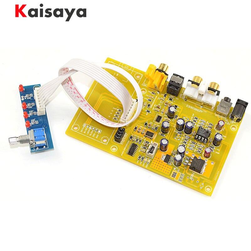 new ES9038 Q2M Triple Switch DAC Decoder Board Support Fiber Coaxial USB HiFi Audio amplifier