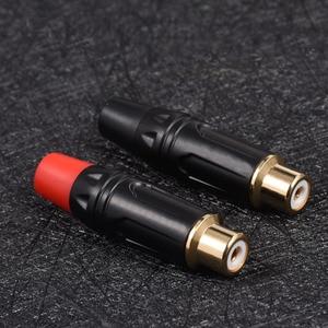 Image 4 - 2 ชิ้น/ล็อต Gold Plated RCA Connector ชาย Audio Video ตัวเชื่อมต่อ