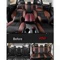 12-16 UNIDS DIY estilismo de coches Nuevos de cuero cuatro estaciones asiento de coche universal caso de la cubierta de Pegatinas para Nissan murano 2015 accesorios