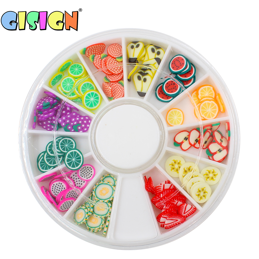 Fruit Fimos Slices Addition For Slime Supplies Slide Charms Kit Slimes Polymer Clear Slime Accessories Putty Clay Nail Art