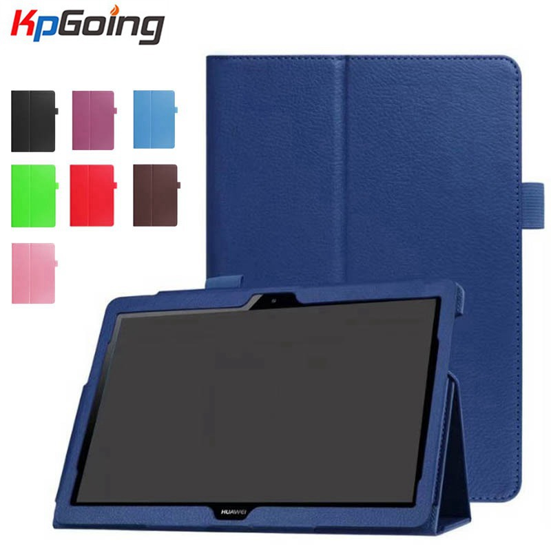 For Huawei MediaPad T3 10 AGS-L09 AGS-L03 9.6 inch Cover Tablet for Honor PU Case Stand Litchi Leather for Honor Play Pad 2 9.6 cover case for huawei mediapad m3 youth lite 8 cpn w09 cpn al00 8 tablet protective cover skin free stylus free film