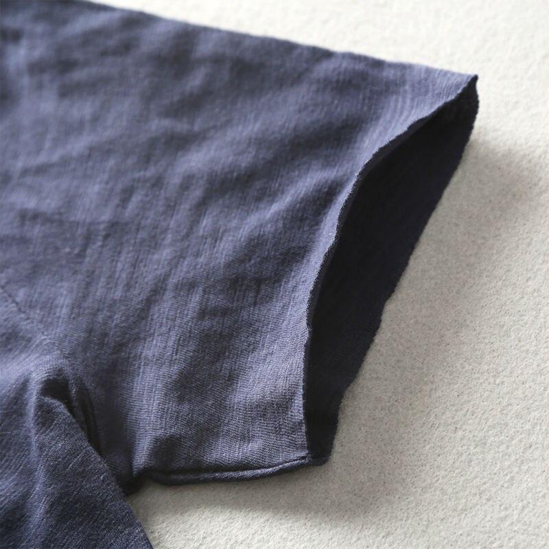 Zecmos Deep V Scoop Neck T-Shirt Män Grundläggande T-shirt T-shirts - Herrkläder - Foto 3