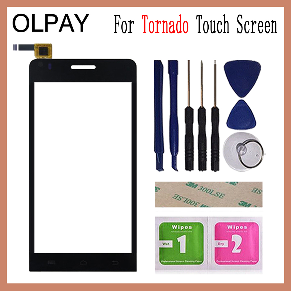 OLPAY 4.5'' Touch Panel For Explay Tornado Touch Screen Glass Digitizer Panel Lens Sensor Glass Free Adhesive And Wipes