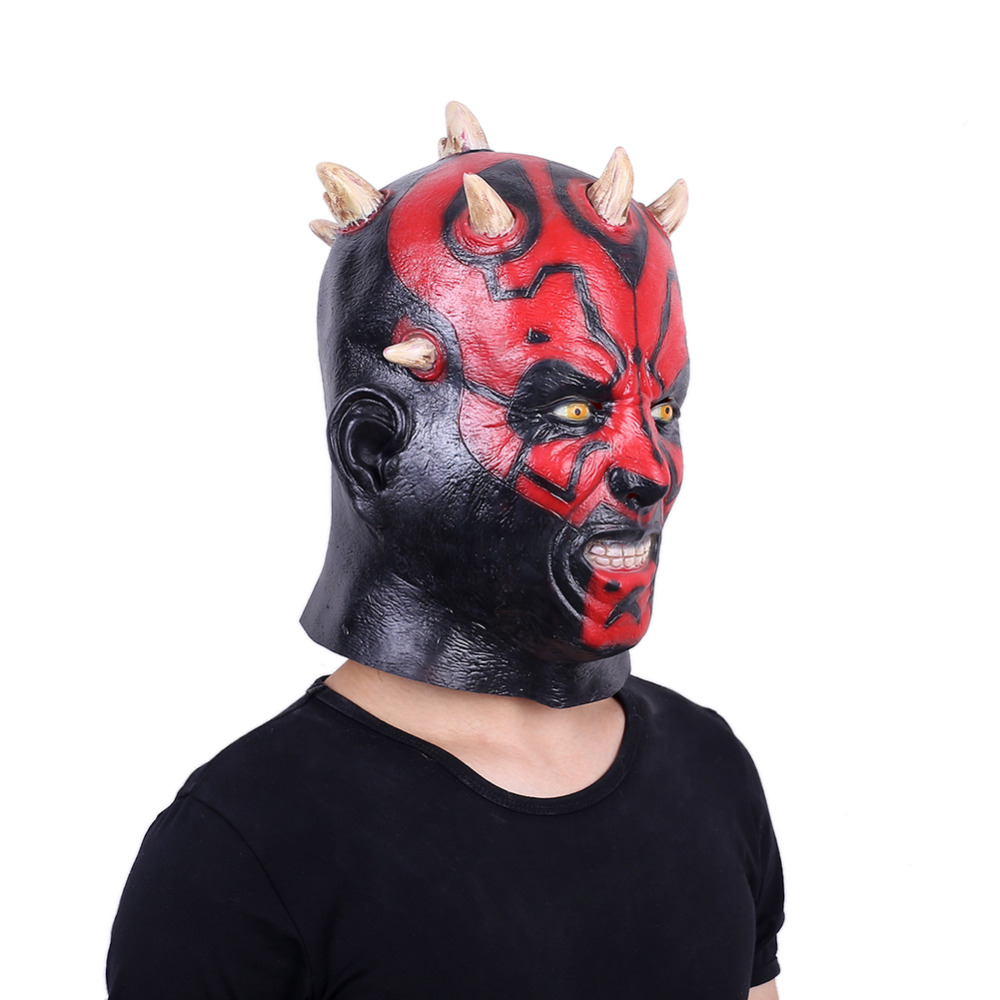 Image 3 - Darth Maul Mask Halloween Masquerade Masks Party Cosplay Movie Star Wars Mascara Latex Realista Masque Devil Horror Carnaval-in Party Masks from Home & Garden