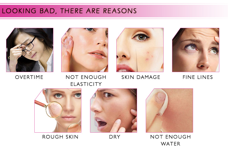 Hyaluronic Acid Serum + VC Snail Serum Collagen Serum Anti-Aging For men and women Moisturizing Skin Care Whitening Brighten 5