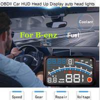 "4E 5,5 ""Auto OBD2 II EUOBD Auto HUD Head Up Display für Benz W211 W203 W204 W124 W201 AMG w202 W212 W220 W205 GLA CLA licht"