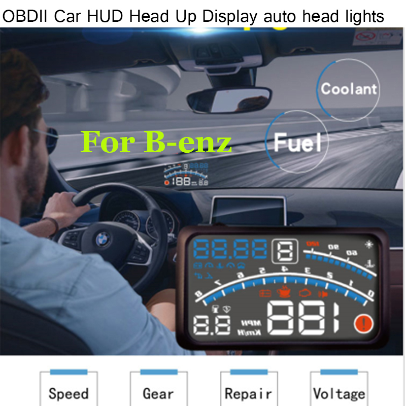 4E 5.5 Car OBD2 II EUOBD Car HUD Head Up Display for Benz W211 W203 W204 W124 W201 AMG W202 W212 W220 W205 GLA CLA light kit thule mercedes benz w124 w201 w202 w210 sd wag
