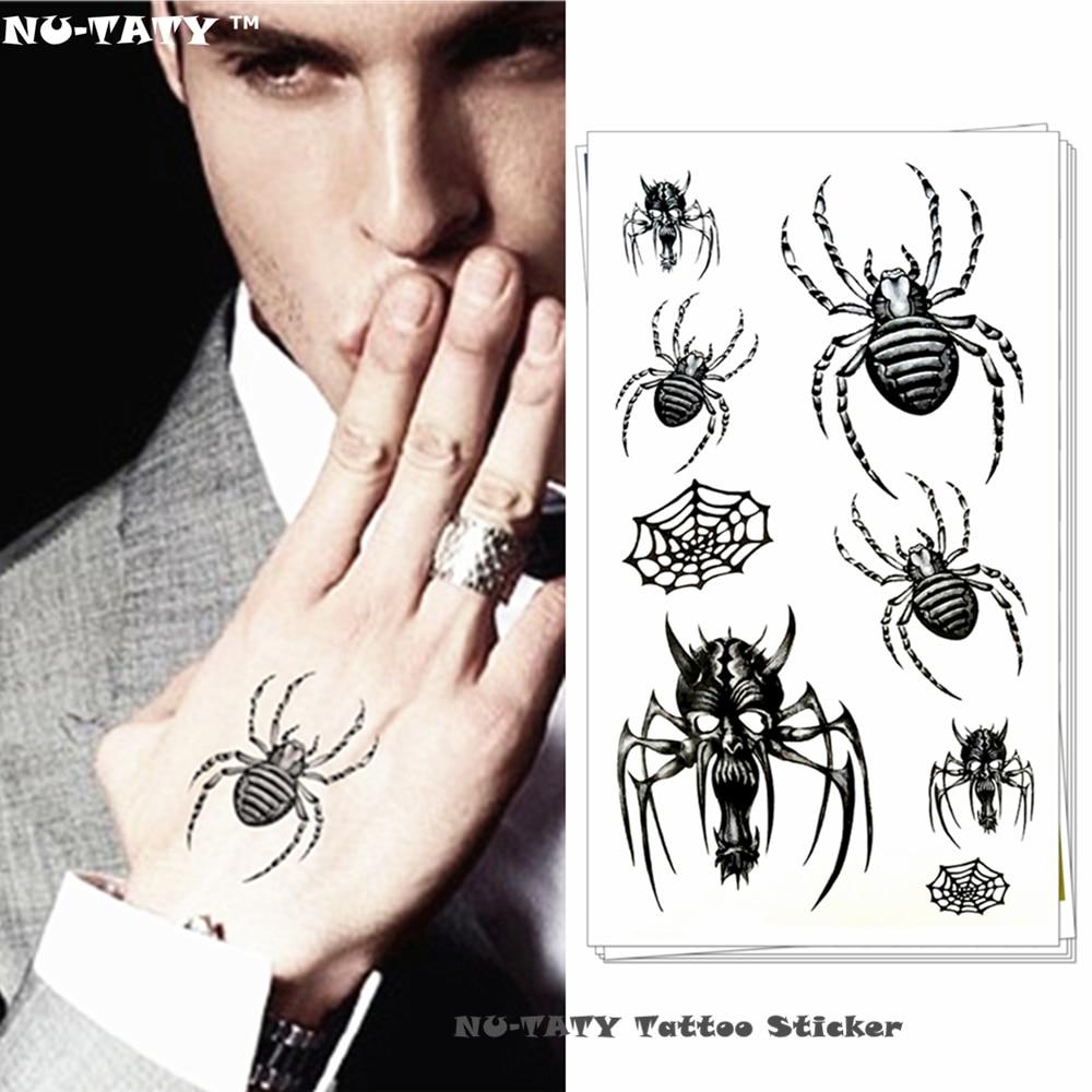 Nu-TATY Pequeña Araña Monstruo Flash Del Tatuaje Temporal Body Art Tattoo Pegati