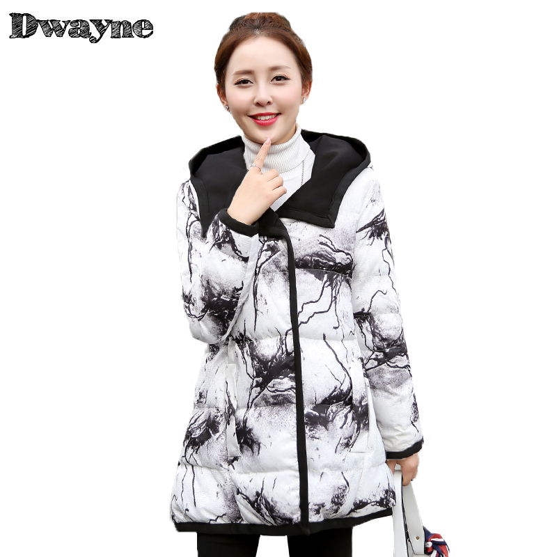 2017 Woman Winter Clothes Padded Slim Women Coat Warm Female Thick Hooded Parka Winter Womens Bio Down Jacket Plus size CX6910 pregnant women of han edition easy to film a word long woman with thick cotton padded clothes coat quilted jacket down jacket