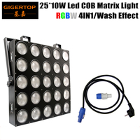 Freeshipping 4pcs Lot 25 Heads Led Matrix Light 25 10W RGB 3 In 1 LEDs Each