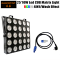 Freeshipping 25 Head Led Matrix Light 25*10W RGBW Cree 4IN1 Color 110/100/40/7 DMX Channels IP20 Audience Wash Blinder Audience