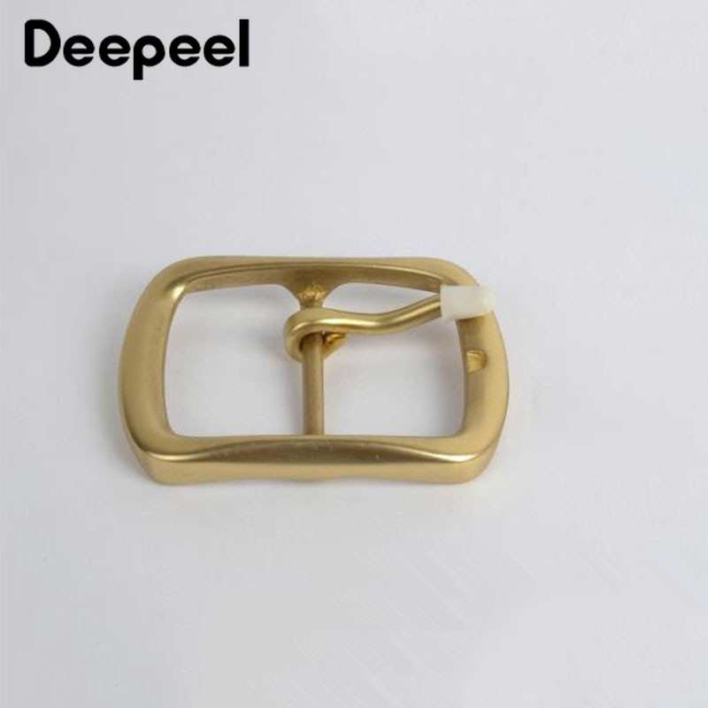 Deepeel 2Pcs Solid Brass Metal Belt Buckle For Men Women High Quality Webbing 38mm Wide Belt Pin Buckle DIY Leather Craft KY2017
