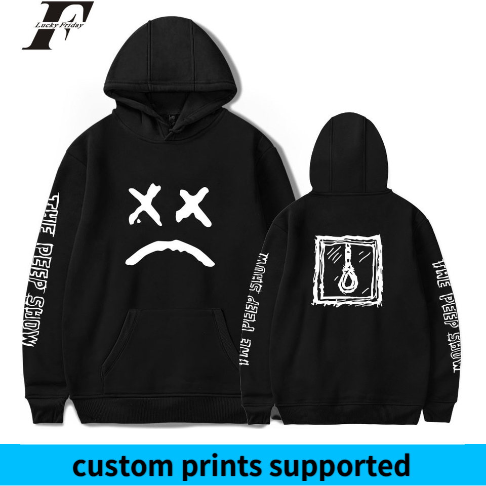 LUCKYFRIDAYF 2018 Lil Peep Spring Women/Men Hoodies Sweatshirts Long Sleeve Hip Hop Hoodies Casual Clothes Plus Size Custom