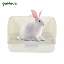 Plastic Pet Cat Rabbit Toilet Potty Trainer Corner Litter Box for Cats Sifting Cat Litter Box Pee Pad Tray Pet Trainer Cleaning