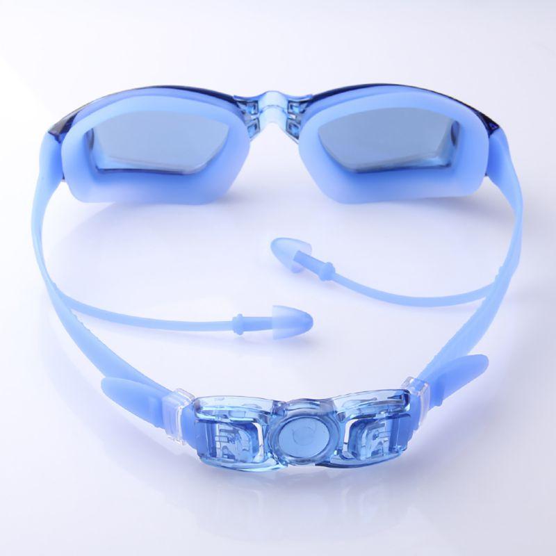 2019 Professional Silicone Swimming Goggles Anti-fog UV Swimming Glasses With Earplug for Men Women Water Sports Eyewear