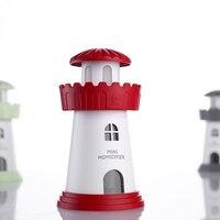 Mini Lighthouse USB Ultrasonic Air Purifier Fogger Car Home Office Desk Mist Maker 5 Color Choice
