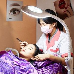 Image 5 - LED salone di bellezza di luce fredda lente di ingrandimento del tatuaggio lampada lampada di bellezza del sopracciglio del chiodo shadowless lampada da terra