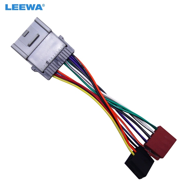 LEEWA Car Radio CD Player Wiring Harness Audio Stereo Wire Adapter ...