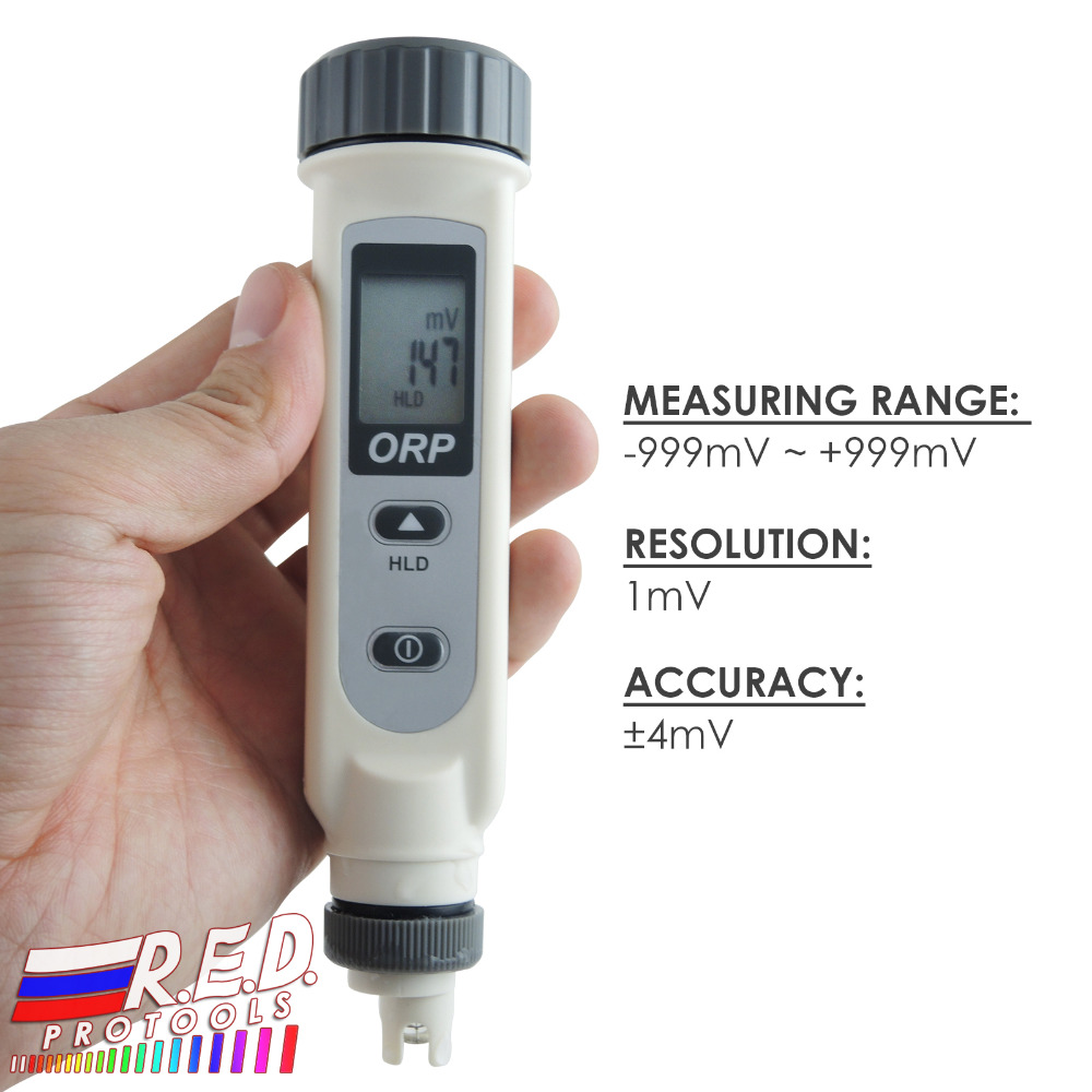 ORP Meter Pen Type Redox 999mV Waterproof IP65 Digital Water Treatment Tester Industrial Laboratory Use automatic calibration digital waterproof orp meter portable pen tester redox meter lcd backlight display