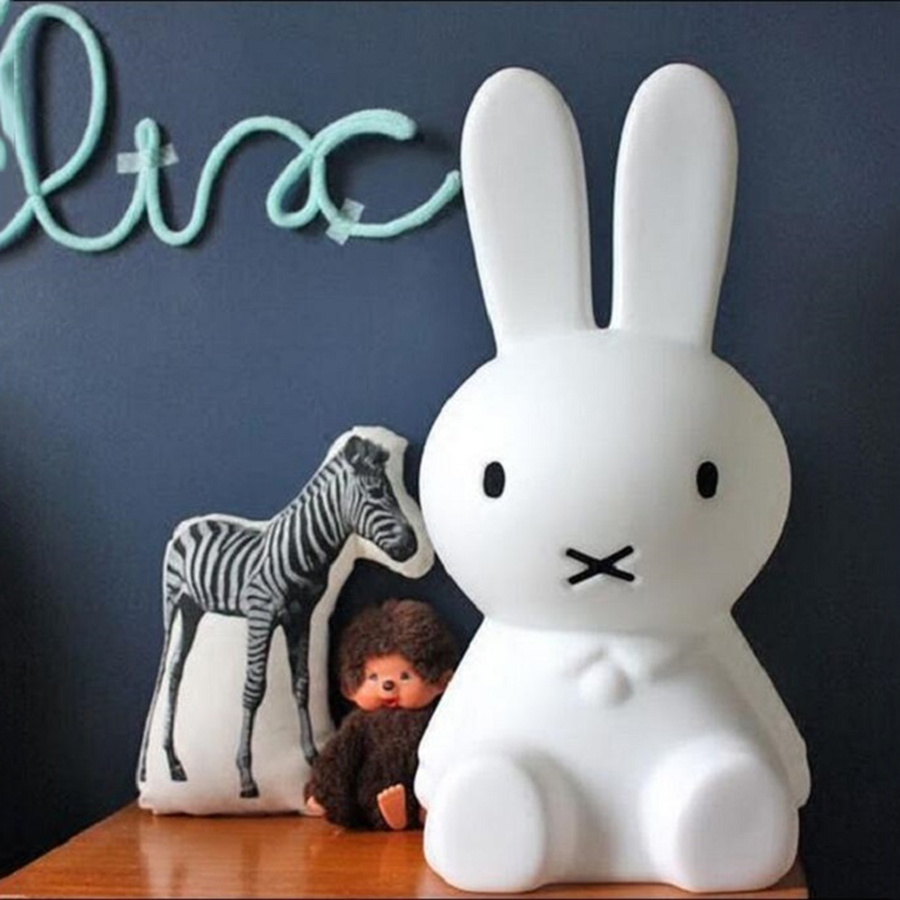 BEIAIDI 50CM Warm White Rabbit LED Night Light Dimmable Animal Cartoon Bedside Table Lamps for Baby Children Kids Birthday Gift beiaidi 50cm cute rabbit led night light cartoon animal bedroom desk table lamp baby kids children sleeping light best christmas