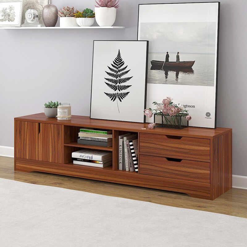 Гостиная деревянная тумба для телевизора одноцветное деревянный шкаф для хранения современный чайный столик Модная отделка под дерево растягивается в китайском стиле
