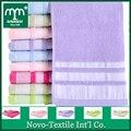 Mmy novo 2017 100% algodão toalha de mão/face towel -- 5 pc/lote cor sólida 34*75 centímetros de banho towel macio longo terry 010580