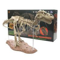 Large Dinosaur Fossil Skull Animal Model Toys Tyrannosaurus rex Assemble the skeleton model Furnishing articles decoration