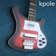 wholesale Kpole rck e nback guitars china factory 4 string black circle red  rickn 4003 bass guitar