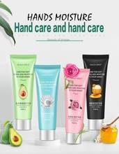 Crema de manos natural antienvejecimiento, hidratante, mantequilla de té, miel, perla, rosa, para piel seca