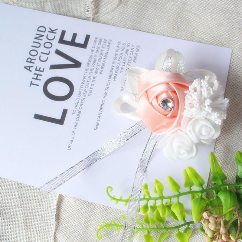 wrist corsage bracelet bridal wedding flowers Bridesmaid  (98)