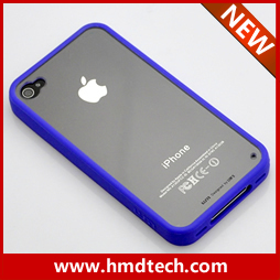 FREE SHIPPING 1 PCS Retail wholesale 2013 transparent  back case for iphone 4 4s