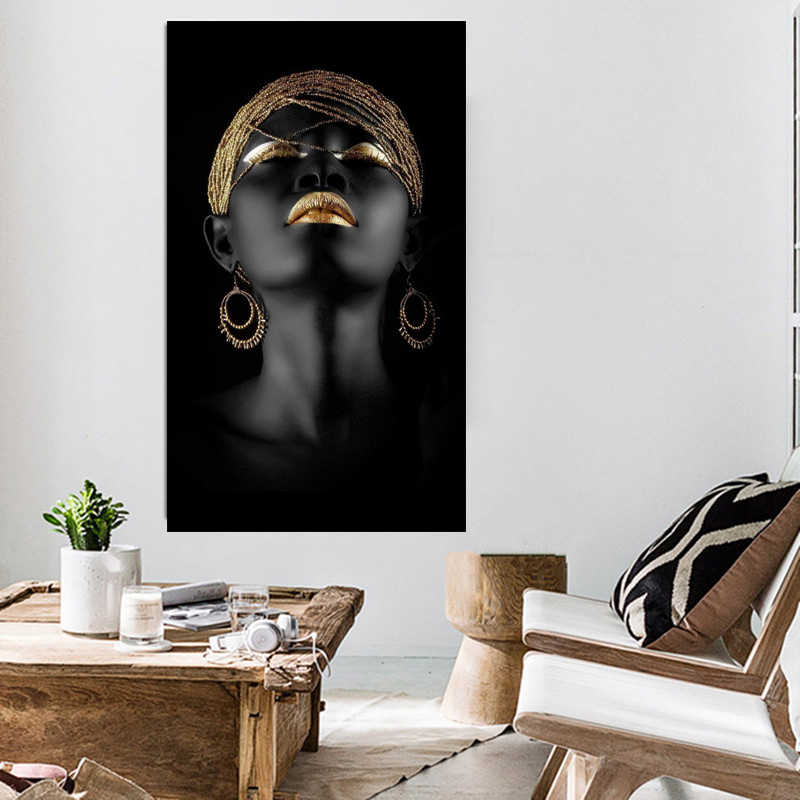 figure Canvas Painting Wall Art Pictures decoration for living room prints Black woman on canvas no frame home decor Wall poster