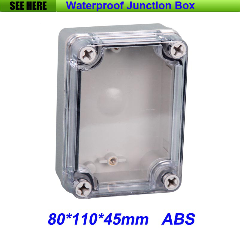 все цены на Free Shipping Good Quality ABS Material Clear Cover IP66 Waterproof  Tool Box 80*110*45mm