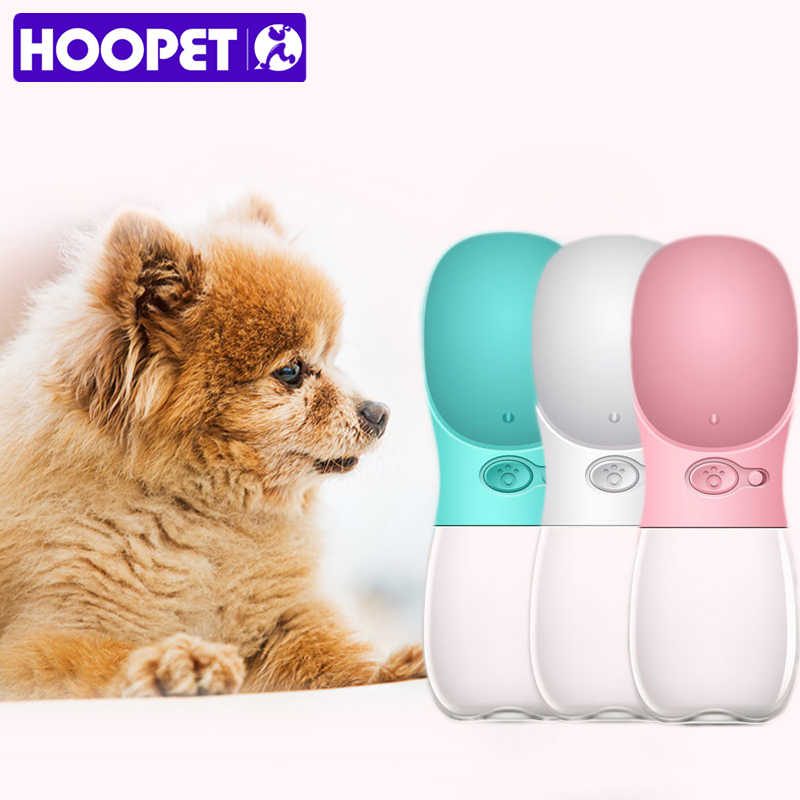 Hoopet Pet Dog Fedding Bottle Food Grade Plastic Outdoor Travel Portable Pet Dog Cat Drinking Water Bottle Tool