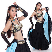 New Tribal Style Belly Dance Costume Outfit 2 Pics Set Of Bra Belt 32 34A B