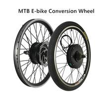 MTB E-bike Conversion Wheel 36/48V 250W-1500W Mountain Electric Bicycle Front Rear Single Wheel with Freewheel and Disc Brake(China)