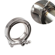 Stainless Steel Auto V-band Exhaust Male Female Flange 76mm Vband Clamps Quick Release V band Clamp 2 2.5 3 3.5 4 Inch