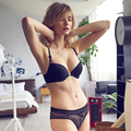 2017 Moda Francesa Sexy Bombshell Sutiã de Renda E Calcinha Conjunto Bordado Cueca Mulheres Lingerie Fechamento Frontal Estilo Verão