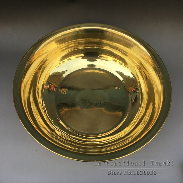 Home decoration handmade yellow bronze basin basin Washing basin ...